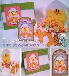 Trio of Chicks, Easter & Spring Crafts