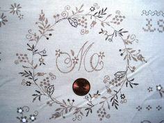 Whitewash Embroidery Sampler Fabric Fat by PrimroseLaceRibbon