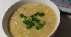 Recipe Chicken and Sweet Corn Soup by specialktoday, learn to make this recipe easily in your kitchen machine and discover other Thermomix recipes in Soups. Baby Food Recipes, Soup Recipes, Chicken Recipes, Recipe Chicken, Recipies, Savoury Recipes, Chicken Soup, Yummy Recipes, How To Make Dough