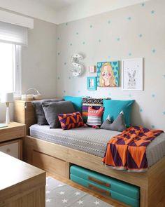 Trendy Home Office Pequeno Azul Small Room Bedroom, Baby Bedroom, Girls Bedroom, Dorm Room, Bedroom Decor, Bedroom Ideas, Bedroom Lamps, Trendy Bedroom, Bedroom Lighting