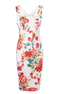 FLORAL-PRINT PENCIL DRESS | Luxury Women's dresses | Karen Millen
