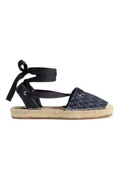 Canvas espadrilles with lacing around ankles. Jute insoles and rubber soles. Jute, Espadrilles, Swedish Brands, Kids Fashion, Womens Fashion, H&m Online, Girls Shoes, Fashion Online, Trending Outfits