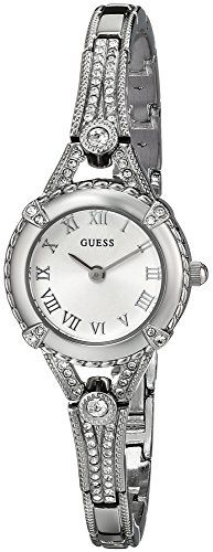 #fashion cool GUESS Women's U0135L1 Petite Vintage-Inspired Crystal-Accented Silver-Tone Watch