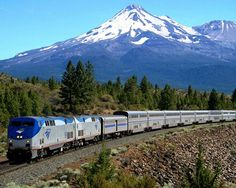 Coast Starlight, runs the length of the West Coast, from Seattle to Los Angeles. passes through the rugged but famously beautiful Pacific Northwest, the mountains and forest landscapes of Northern California, the scenic Central Coast and the dry hills of Southern California. I WANNA DO THIS ONE DAY!