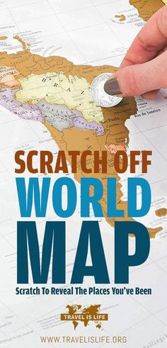 ade1839ba7c7 Scratch Off World Map - Scratch to reveal the places you travel