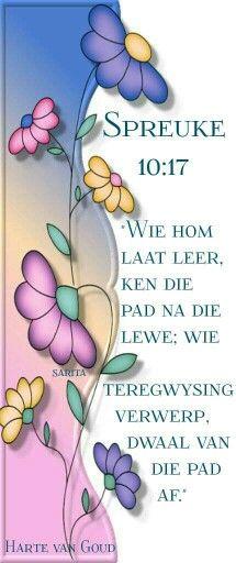 Teks - Spr 10:17 #Afrikaans #Scripture