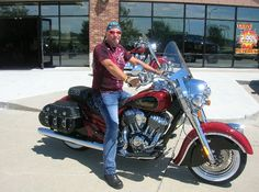 Big thanks to Ward Merritt Jr. From Nebraska City for buying this 2015 Indian Scout! What a beautiful bike! #indian