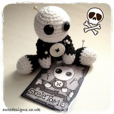 Introducing Amigurumi Voodoo Doll - SkeleTom by cutedesigns, via Flickr.
