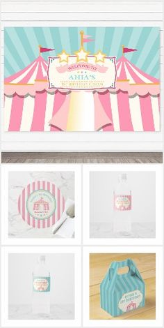 Carnival Invitations, Carnival Cakes, Circus Carnival Party, Pink Invitations, Invitation Design, Photo Balloons, Event Planning, Party Favors, Red And White