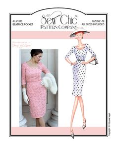 Sew Chic LN1310 Beatrice Pocket Dress Pattern for Women and Teens