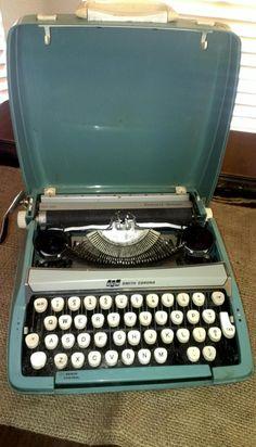 SmithCorona vintage type writer by Alittledistressedout on Etsy, $65.00