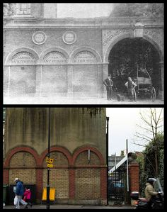 Westbere Road Library The first West Hampstead library in Westbere Road, it was destroyed by a bomb in the Second World war. Westbere Road Library by. Vintage London, Old London, Swiss Cottage, Brick Building, Red Bricks, Bristol, Vintage Photos, Past, Presents