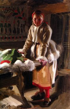 A Girl from Mora,   Anders Zorn