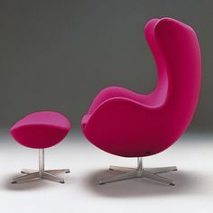 ♥ Fritz Hansen Egg Armchair Designed by Arne Jacobsen Fritz Hansen, Modern Furniture, Home Furniture, Furniture Design, Pink Furniture, Scandinavian Furniture, Scandinavian Modern, Modern Decor, Diy Chair