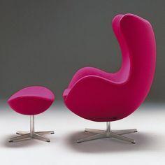 ♥ Fritz Hansen Egg Armchair Designed by Arne Jacobsen Fritz Hansen, Modern Furniture, Home Furniture, Furniture Design, Pink Furniture, Scandinavian Furniture, Scandinavian Modern, Modern Decor, Arne Jacobsen Chair