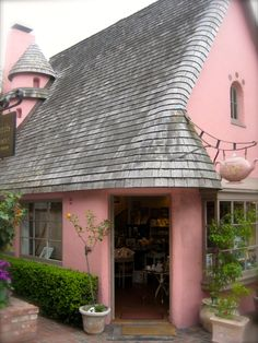 The perfect princess pink cottage. The Tea Rose Collection in Carmel, CA.