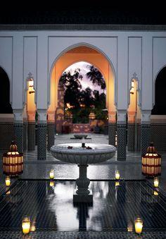 lf Mabrouk to La Mamounia in Marrakech who has won the prestigious World Travel Award for Best Leading Hotel of Read more about it Moroccan Art, Moroccan Interiors, Moroccan Design, Moroccan Style, Islamic Architecture, Interior Architecture, Exterior Design, Interior And Exterior, Room Interior
