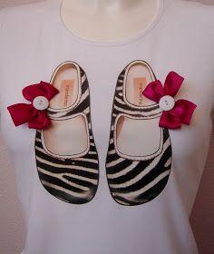 Mandarina Camisetas: Zapatito cebra