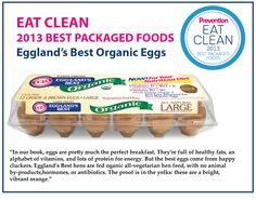 EB Organic Eggs WIN!!! Prevention Magazine's 2013 Eat Clean: Best Packaged Foods #egglandsbest #eggs #vegetarian #eatclean #cleaneating