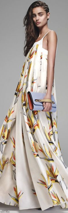 Fendi Resort 2016 white maxi dress. women fashion outfit clothing style apparel @roressclothes closet ideas