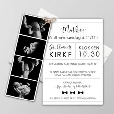 BARNEDÅB29 Baptism Invitation For Boys, Christening Invitations, Baby Deco, Baby Barn, Baby Christening, Scrapbooking, Diy Baby, Kids And Parenting, Christmas Diy