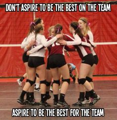 Volleyball love teamwork eveif it means sitting out one game cuz ur about ready to faint lol