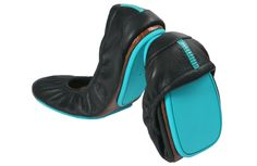 Tieks.com...great split sole flats...pricey, but great for travel or walking to work.  You only need one pair!