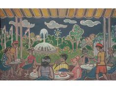 Near Elizabeth Walk (present Esplanade site); Artist: Liu Kang; Year: 1979; Country: Singapore; Medium: oil on canvas; Dimensions: 127 x 203 cm