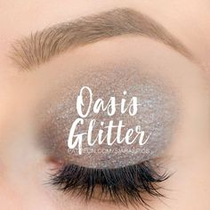 Oasis Glitter ShadowSense – Limited Edition by SeneGence is a smoky blue with violet & green glitter. The perfect eyeshadow color for summer - esp. because it will last all day long once applied. Click to buy yours before this gorgeous color is no long available. #shadowsense #senegence #oasis