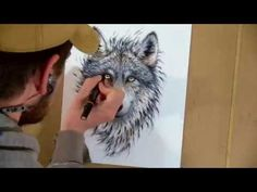 Drawing a wolf with markers - Time-Lapse #wolf #wolfdrawing #homedecor #timelapse