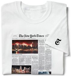Unique t-shirt features the front page of The New York Times from the day they were born...perfect for the senior who has everything!