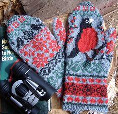 Free knit pattern- The Robin's Secret Mittens - Media - Knitting Daily Mittens Pattern, Knit Mittens, Knitted Gloves, Knitting Socks, Knitting Daily, Double Knitting, Wrist Warmers, Hand Warmers, Knitting Patterns Free