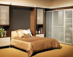 Bed with Built in Closet | Timeless Modern Home Interior Furniture Design by Closet Factory - Bed