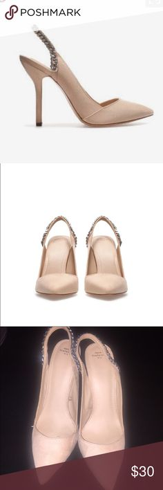 Zara nude slingback EUR 39 Excellent condition. EUR 39, US 8. PRICE IS FIRM. Zara Shoes Heels