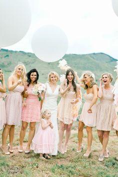 Damas de honor y novias en imágenes