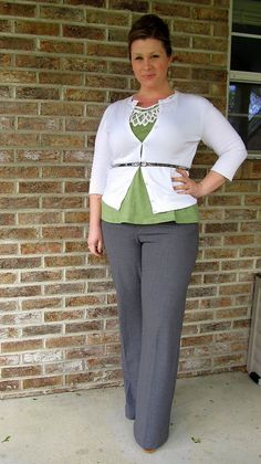 Surely Sonsy: Green Machine. Cute! I don't care for the neckline embroidery-type piece.