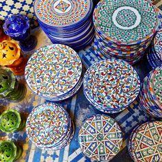 The Stylish Gypsy (mydearmorocco:    Beautiful Moroccan Pottery...)