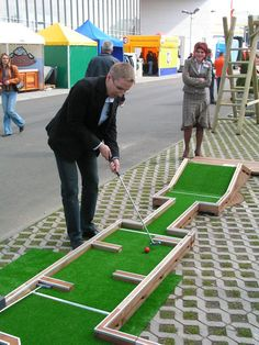 How About A Game Of Mini Golf To Entertain Your Wedding Guests? #minigolf  #wedding #weddingentertainment | Wedding Mini Golf | Pinterest | Golf, ...
