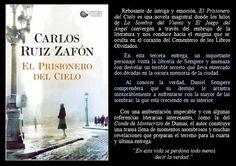 El prisionero del cielo. Carlos Ruiz Zafón. EduRead: #RecomiendoLeer @davidgscom Riddles, Book Reviews, Recommended Books, Sky, Novels, Literature