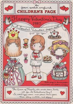 Joan Walsh Anglund -  CHILDREN'S PAGE  A Special Valentine for You 1987