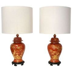 Pair of Gilt Decorated Table Lamps | From a unique collection of antique and modern table lamps at https://www.1stdibs.com/furniture/lighting/table-lamps/