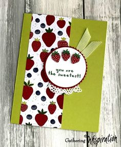 Fruit Basket Stamp Set, Itty Bitty Fruit Punch Pack and Tutti Frutti Designer Series Paper, thank you card idea. Amy Frillici, Stampin' Up! Demonstrator. 1000+ StampinUp & SUO project ideas. Read more gatheringinkspiration.com... #gatheringinkspiration Tutti Frutti, Apple Crafts, Apple Baskets, Fruit Punch, Stamping Up Cards, Card Designs, Cool Cards, Project Ideas, Thank You Cards