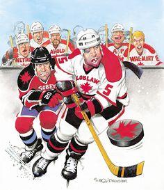 Let's kick some Butt! Sports Art, Illustrators, Hockey, Cool Art, Baseball Cards, Artist, Artwork, Caricatures, Celebs