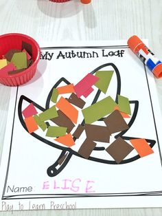Confetti cutting practice helps develop the fine motor skills in students hands, as well as supplying materials for a fun seasonal art project! Fall Preschool Activities, Preschool Crafts, Toddler Activities, Physical Activities, Dementia Activities, Preschool Cutting Practice, Cutting Activities, Tree Study, Thanksgiving Crafts For Kids