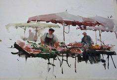 Watercolor Sketch, Watercolor Artists, Watercolor Landscape, Watercolour Painting, Painting & Drawing, Watercolours, Art Sketches, Art Drawings, Joseph Zbukvic