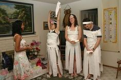 Classic Wedding Shower Games for Prizes-TP wedding dress would be really fun to make the groomsmen do