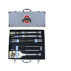 Ohio State Buckeyes 8pc. BBQ Set. I Have this Exact Set and I use it on my Kerosene OHIO STATE BUCKEYE GRILL!