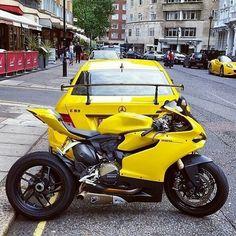#Ducati #Ducati1199 #Ducati1299 #Motorcycle Mercedes-Benz, Sport bike, Ducati 899, Yellow - Follow #extremegentleman for more pics like this!