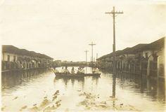 Saiba onde está um dos marcos da enchente de 1929 e veja fotos daquela que é reconhecida até hoje como a pior cheia da história de São Paulo