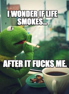 Meme Creator - I wonder if life smokes... after it fucks me. Meme Generator at MemeCreator.org!